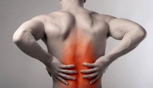 ont i ryggen ryggraden